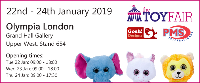 Gosh Designs PMS International Toy Fair 2019